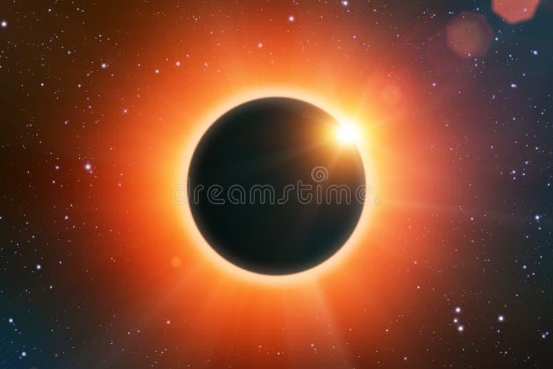 背景黑色设计太阳蚀的例证 库存例证