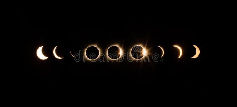 背景黑色设计太阳蚀的例证 图库摄影