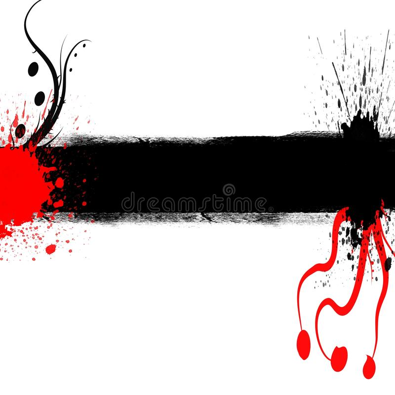 背景黑色copyspace grunge红色 免版税图库摄影