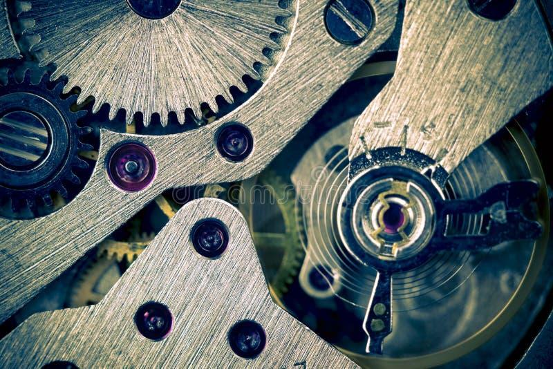 背景齿轮宏观机械分开提 库存图片