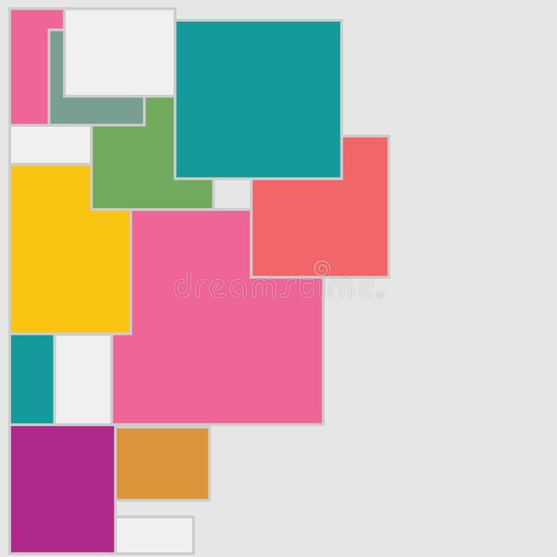 背景,五颜六色的抽象几何无缝的样式,传染媒介 库存例证
