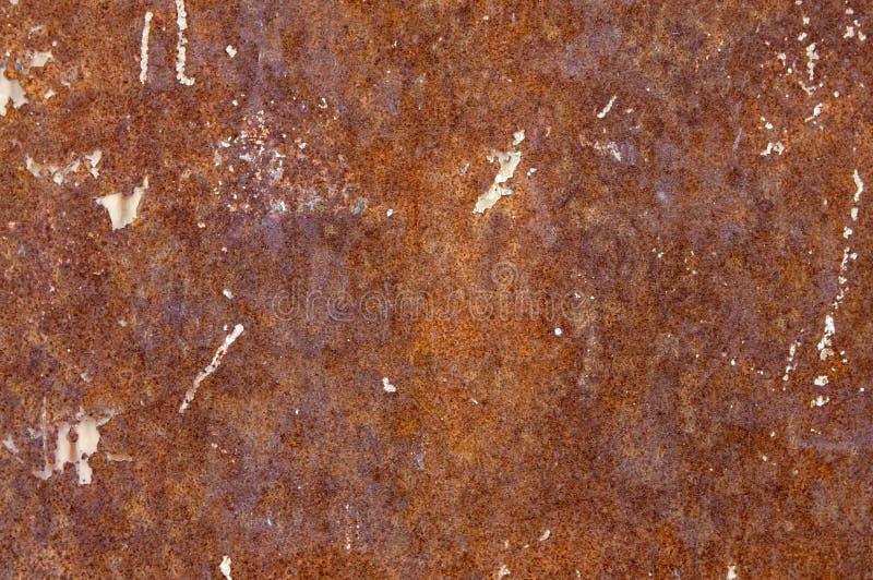 背景,纹理生锈的金属板 免版税库存图片