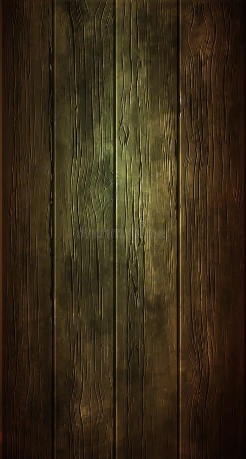 背景,老木头纹理  高度现实例证 向量例证