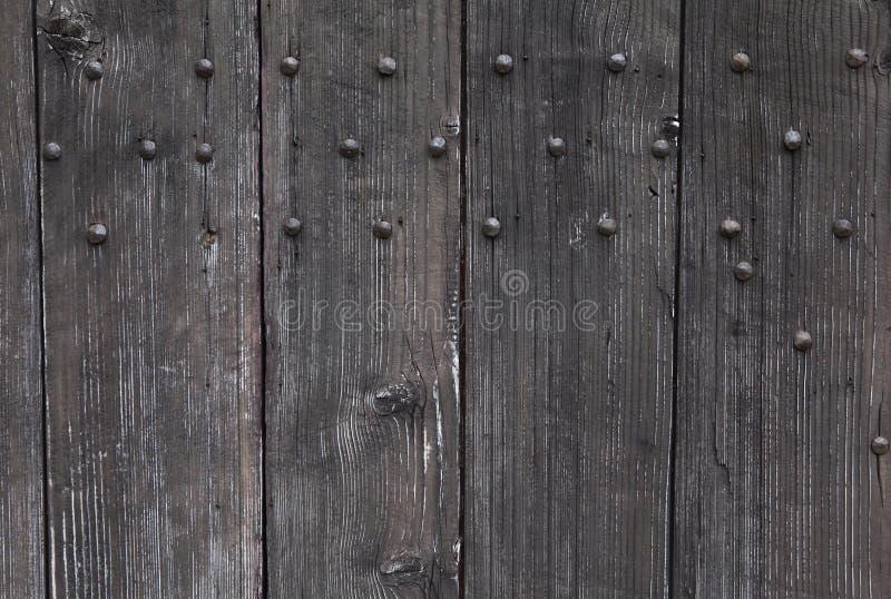 背景:老木门 样式中世纪欧洲& x28; France& x29; 库存照片