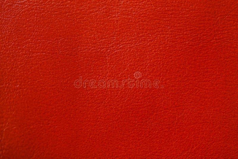 背景经典红颜色皮革纹理 对您的背景,与拷贝空间 库存图片