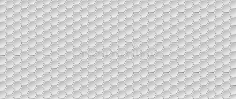 背景 几何六角形背景的传染媒介例证 库存例证