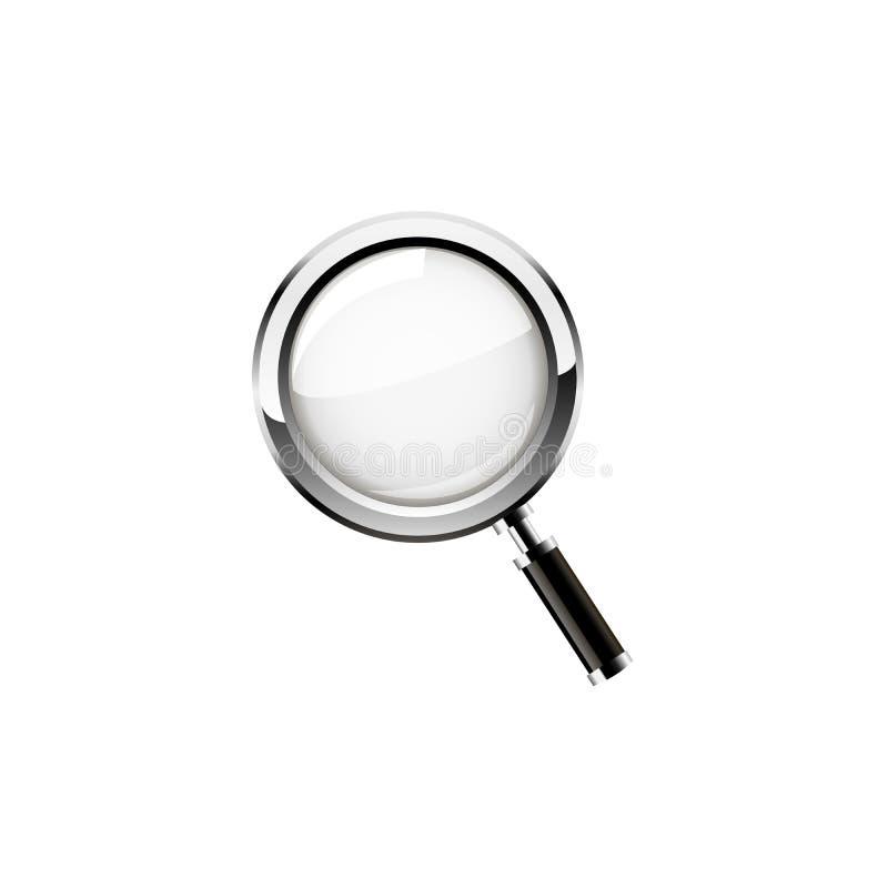 背景玻璃例证查出的扩大化的向量白色 向量 皇族释放例证