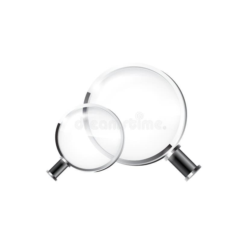 背景玻璃例证查出的扩大化的向量白色 库存例证