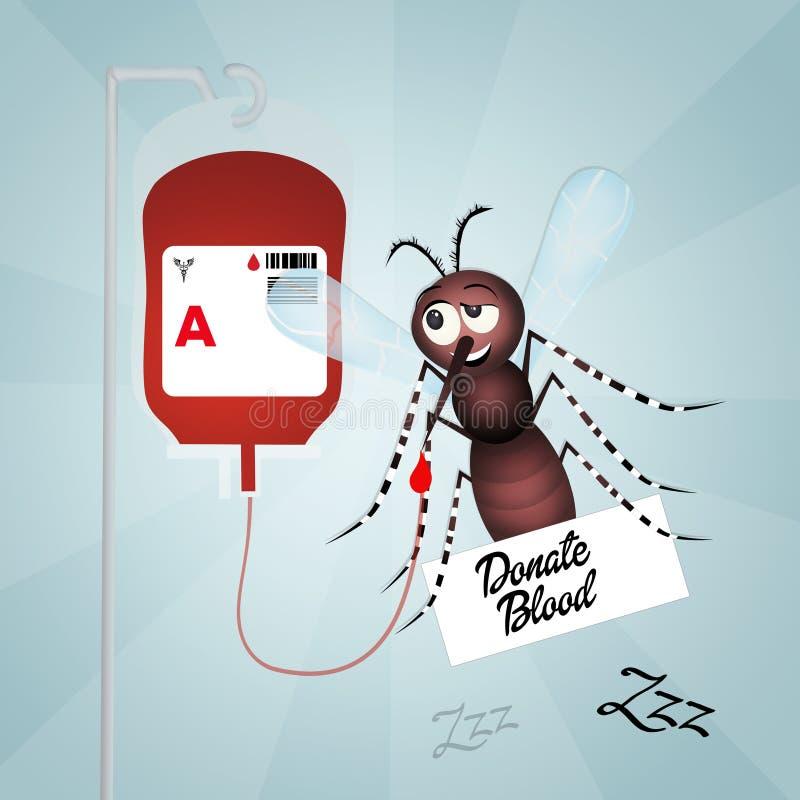背景医疗的献血 向量例证