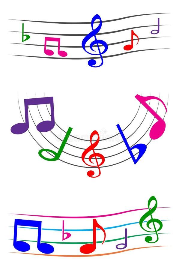 背景质朴的音乐 库存例证