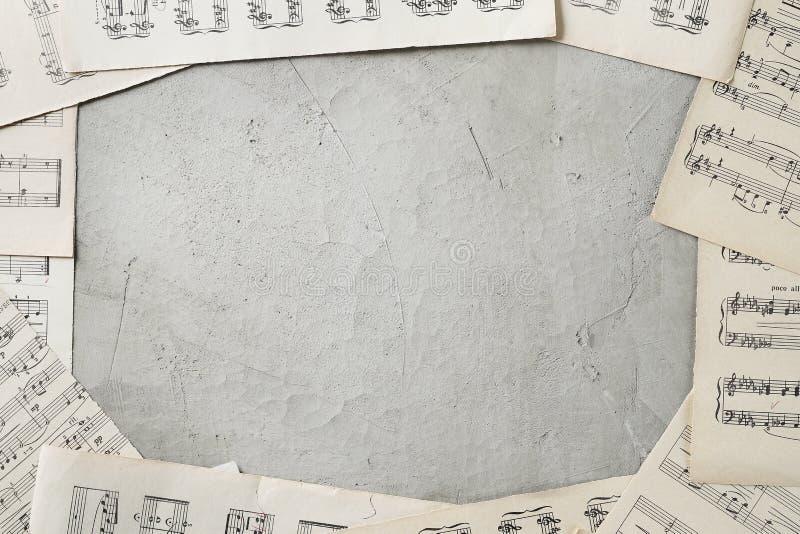 背景质朴的音乐 免版税图库摄影