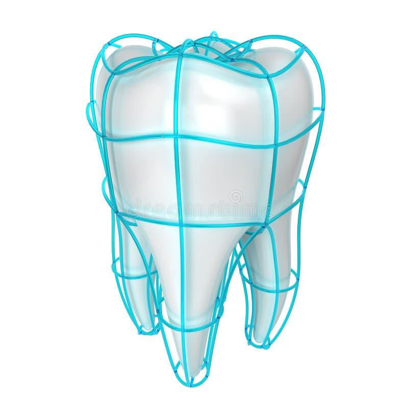 背景黑色例证保护牙向量 库存例证
