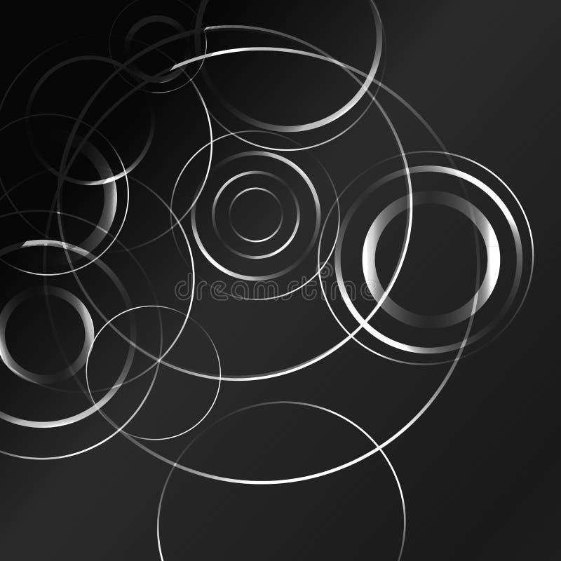 背景黑色催眠白色 向量例证