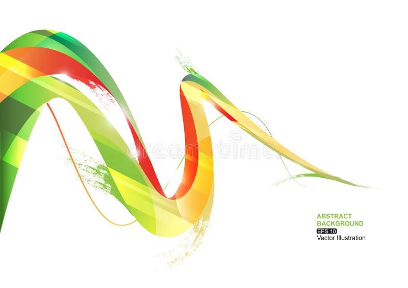 背景绿色条纹 向量例证