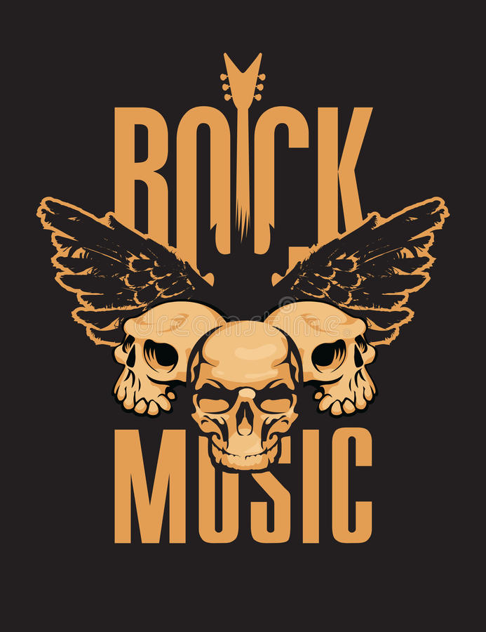 背景黑色火热的吉他音乐岩石 向量例证