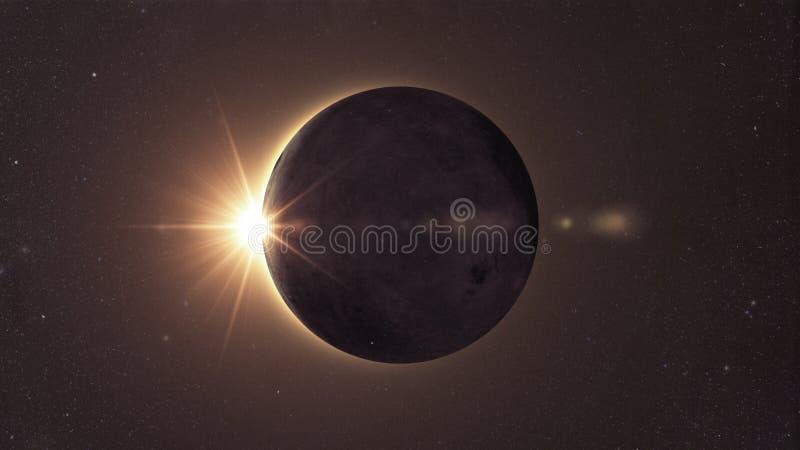 背景黑色设计太阳蚀的例证 向量例证