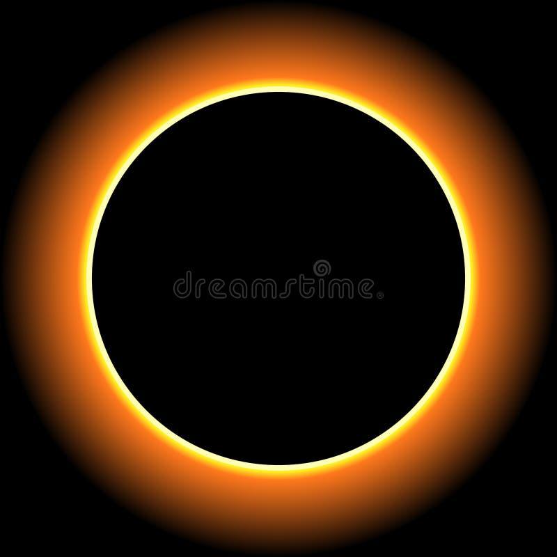 背景黑色设计太阳蚀的例证 皇族释放例证