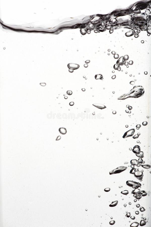 背景浴蓝色泡影水 库存图片