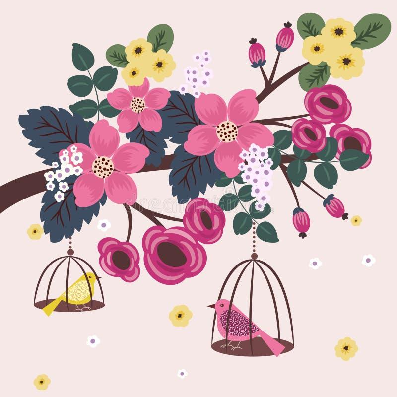 背景细部图花卉向量 库存例证