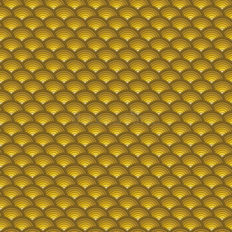背景3d同心管子样式以橙黄色 皇族释放例证