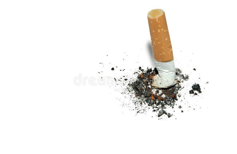 背景copyspace抽烟的终止 免版税库存照片