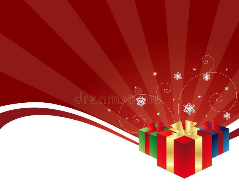 背景cristmas礼品 库存例证