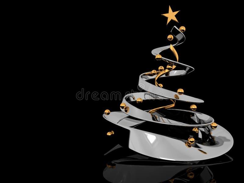 背景cristmas结构树 库存例证