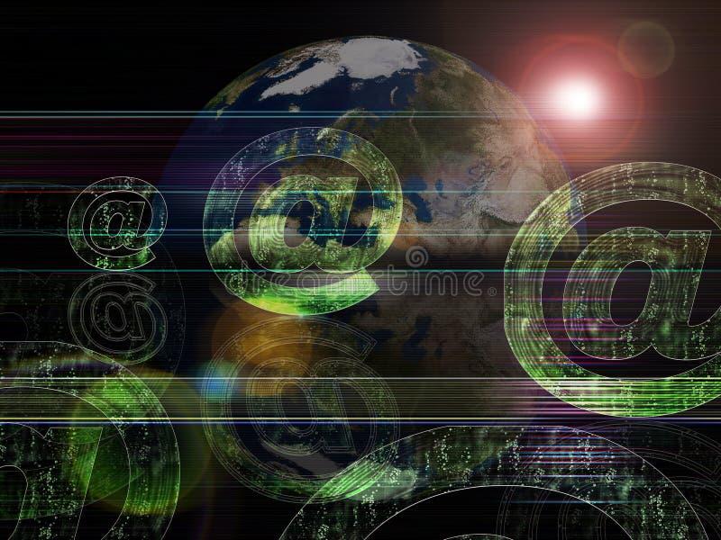 背景e全球邮件系列 向量例证
