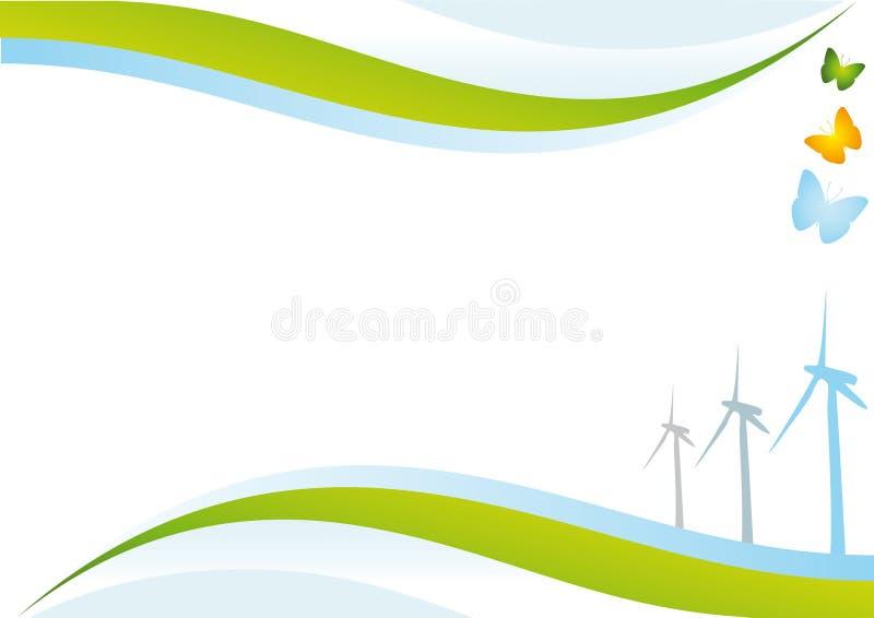 背景eco能源 向量例证