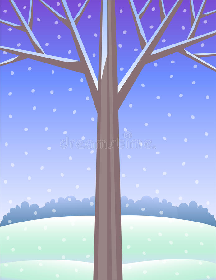 背景eps结构树冬天 向量例证