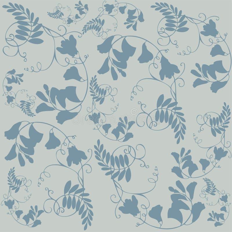 背景fashi开花无缝的装饰品 向量例证