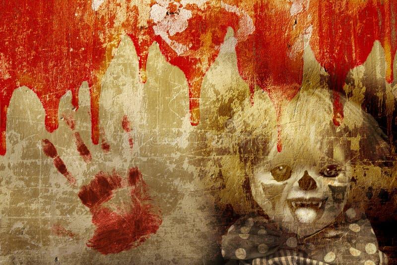 背景grunge万圣节 免版税库存图片