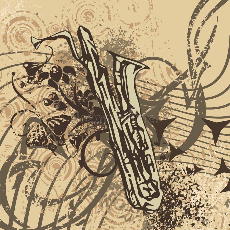 背景grunge仪器音乐 向量例证