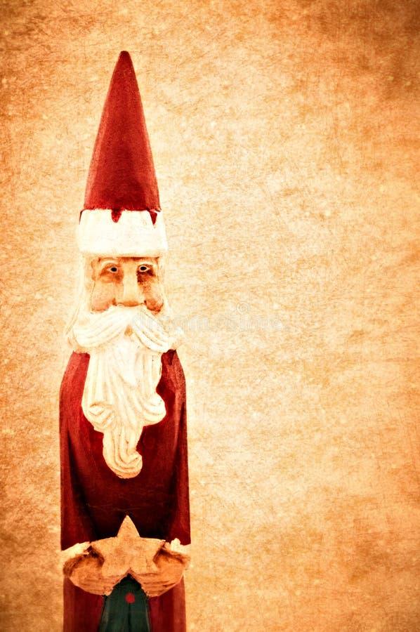 背景grunge圣诞老人葡萄酒 免版税库存照片