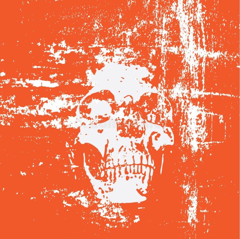 背景grunge头骨 向量例证