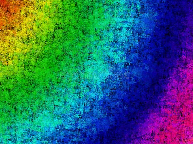 背景grunge彩虹 向量例证