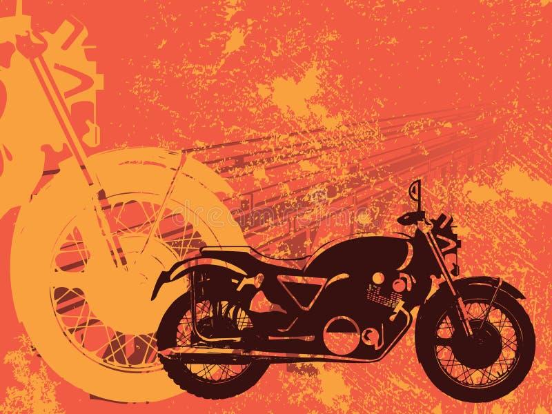 背景grunge摩托车 皇族释放例证