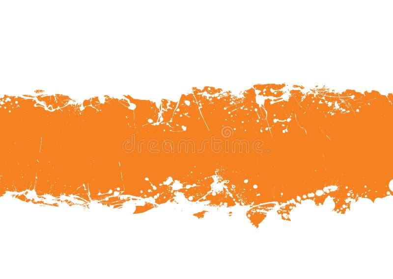 背景grunge橙色主街上 皇族释放例证