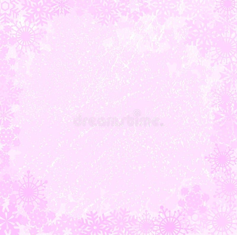 背景grunge粉红色向量xmas 皇族释放例证