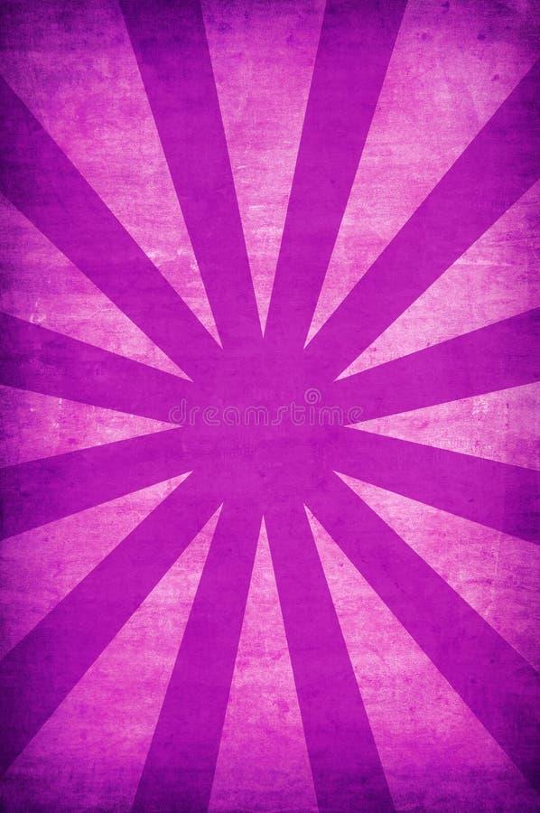 背景grunge紫色光芒星期日葡萄酒 向量例证