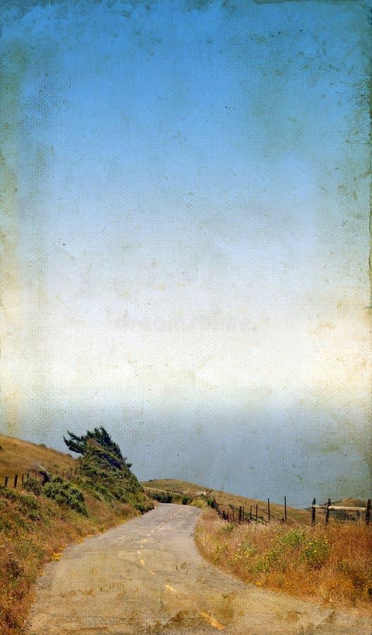 背景grunge绕的路海运 库存照片