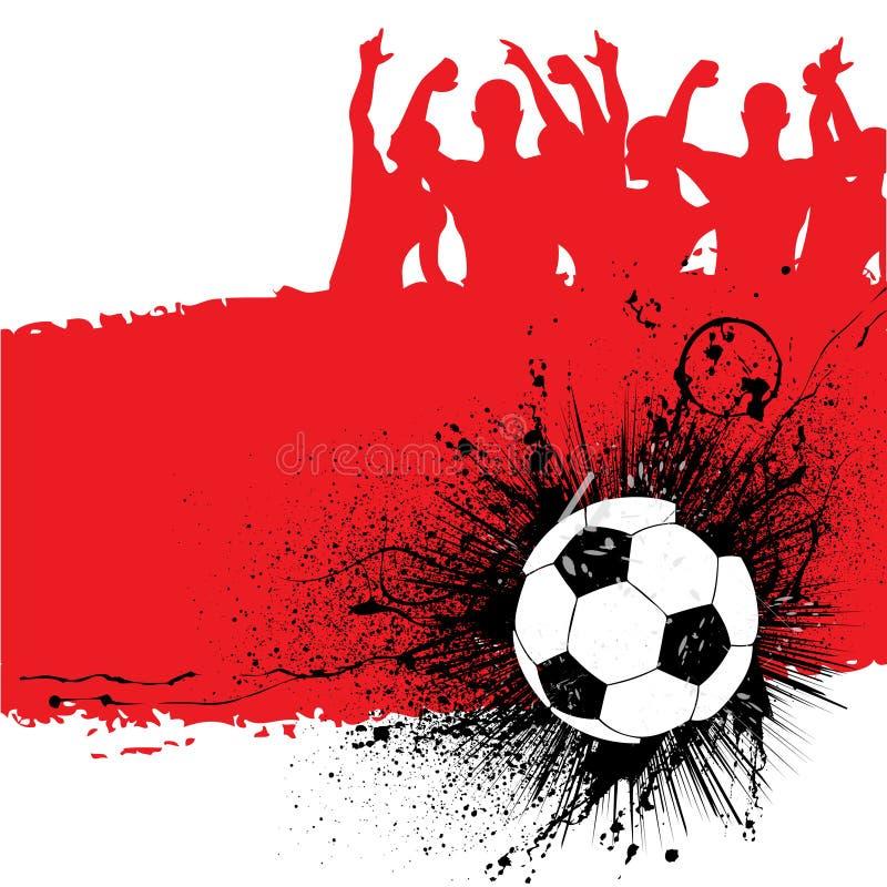 背景grunge足球 向量例证