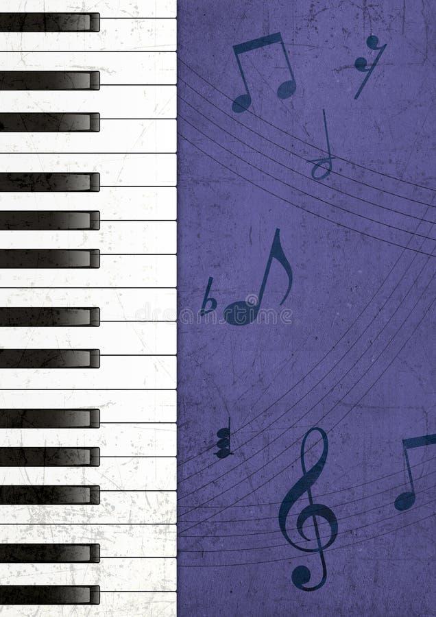 背景grunge钢琴 库存例证