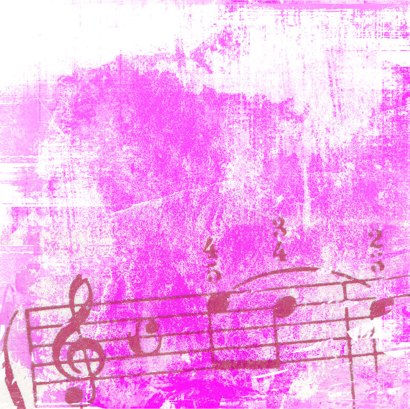 背景grunge音乐纹理 库存例证
