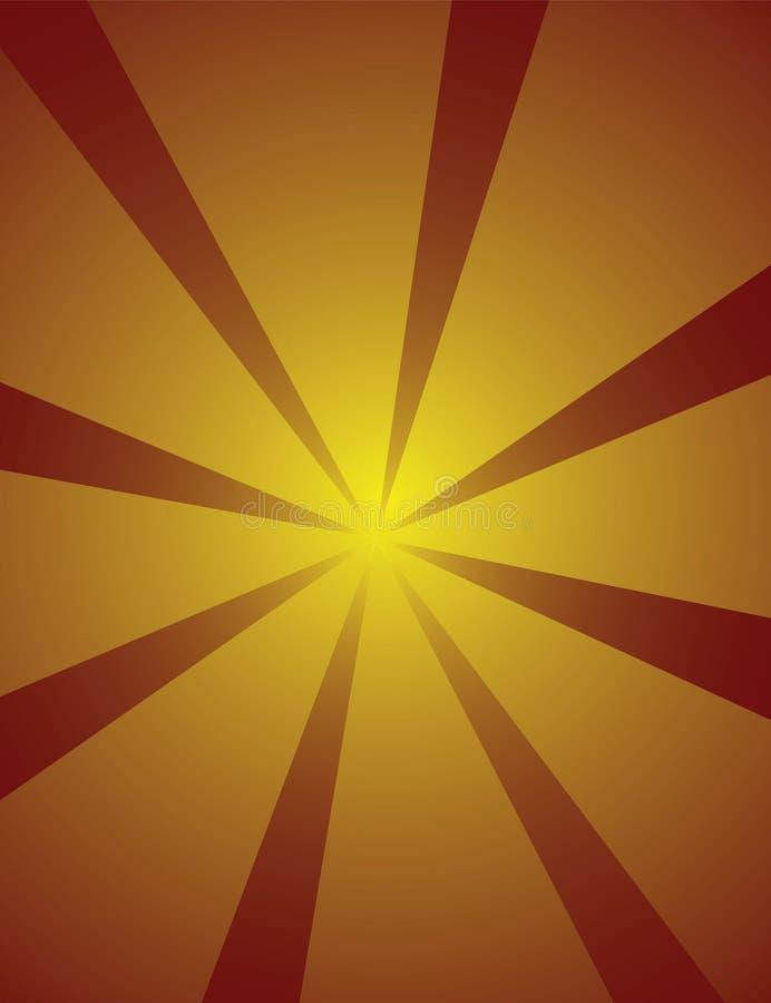 背景starburst 向量例证