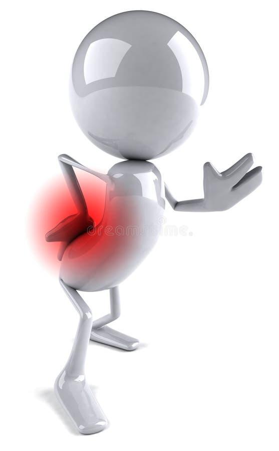 背部疼痛 皇族释放例证