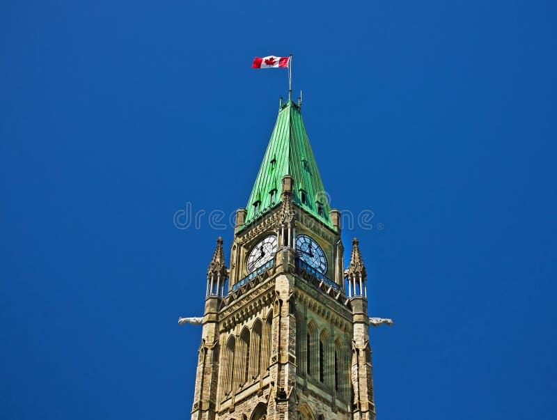 胜利和和平塔或者加拿大议会和平塔  免版税库存图片