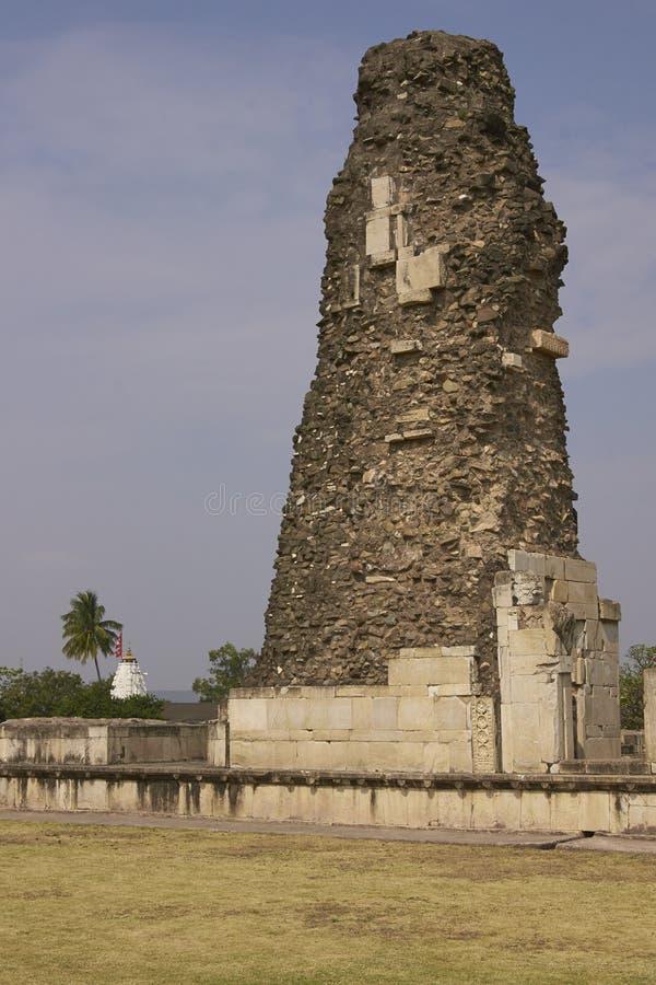 胜利塔在Mandu, Madya Pradesh,印度 免版税库存照片