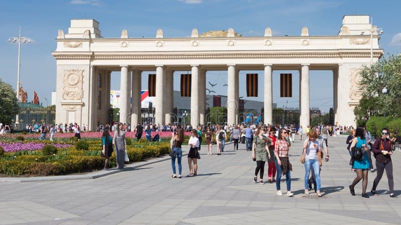 胜利天在高尔基公园在莫斯科,俄罗斯 免版税库存照片