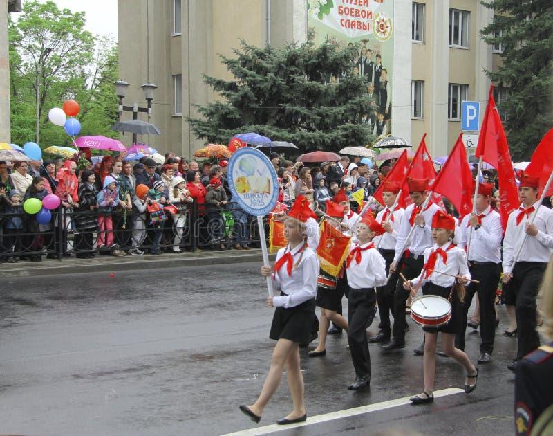 胜利天Pyatigorsk俄罗斯- 2015年5月09的第70周年的日庆祝 图库摄影